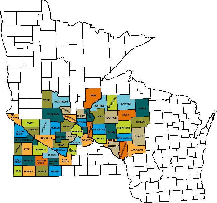 Second Harvest Heartland Service Area by County