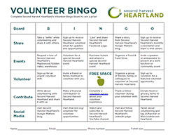 Volunteer Bingo Board