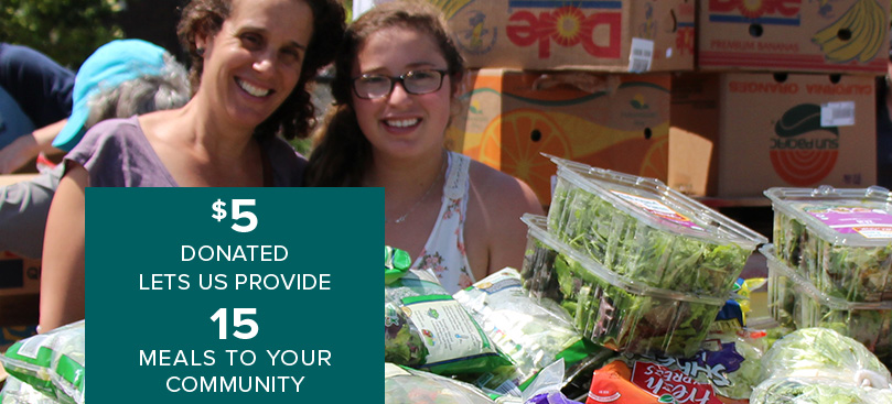 5 dollars donated gives 15 meals to your community