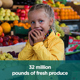 32 million pounds of fresh produce square 2018